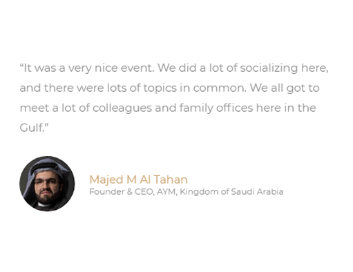 Middle East Family Office Summit Testimonial 11.fw